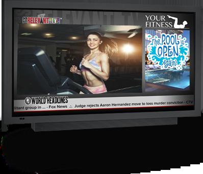 telewizja w siłowniach i fitness klubach, telewizor